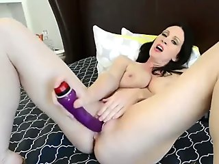 Rayveness Goes Wild with a Purple Dildo