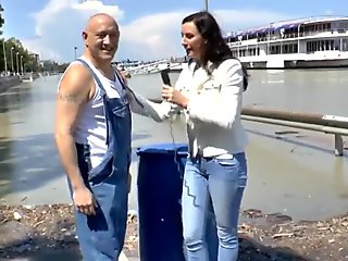 British news lady enjoys hardcore fuck after interview