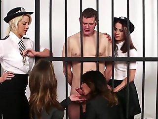 British police dominas humiliate sub in cell